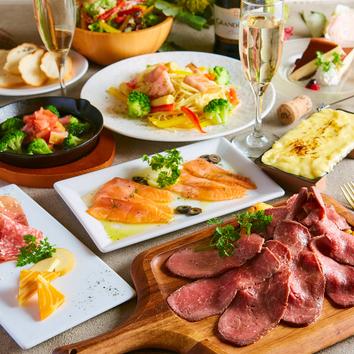 『肉バルコース』3時間飲み放題付7品!グラムの定番コース
