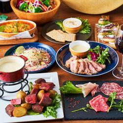 前菜からデザートまでシェフが厳選した食材を使ったお肉料理コース。飲み会・合コン・女子会・宴会に