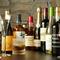 ワインをはじめ、アルコールは豊富に取り揃えています