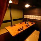 新鮮素材でつくるおいしい料理と上品な個室空間は接待にも好評