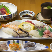 いろいろな味を楽しめる『寿司御膳』