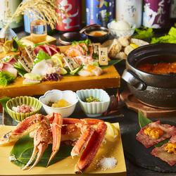 当店名物コース!贅沢な北海の幸をふんだんに使用した絶品料理が満載!