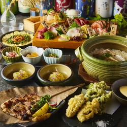バランスのとれた産直食材満喫コース!同窓会や歓迎会、送別会などの各種宴会に最適です。