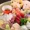 鮮度抜群の魚介を贅沢に盛り合わせた『日高の活〆魚 お刺身盛り合わせ』