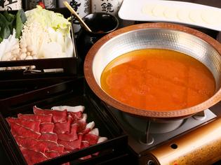 日高産食材の旨みが凝縮された『トマトシカしゃぶ』