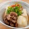 新潟産の和牛と豆腐を甘辛く仕上げた『にいがた和牛と越後豆腐の牛すじ煮込み』