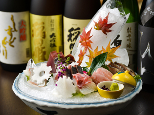 旬の天然魚を堪能できる『本日のお造り盛り合わせ』
