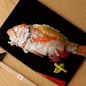 金沢地元の名産、高級魚としても名高い「のど黒」