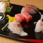 鮮度にこだわった能登島鰀目漁港の旬魚を使った『造り盛り合わせ』