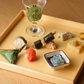 日本酒とゆっくり楽しみたい料理長こだわりの『八寸』