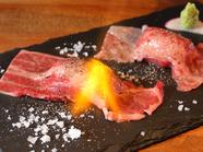 口の中でとろける。。肉の甘味を感じられる『黒毛和牛の炙り肉寿司8貫』