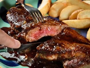 ボリュームたっぷり満足のいく味わい『がっつりステーキ』