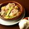 オリーブオイルと国産にんにくのだしのハーモニー『野菜と生ハムのアヒージョ』