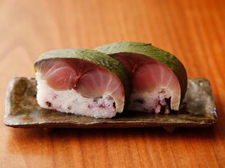 酢茎(すぐき)やしば漬けなど京都の漬物を使った『鯖寿司』