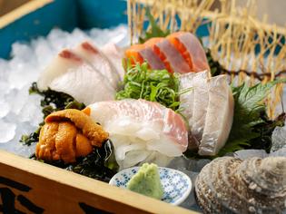 好きな魚貝類を選んで盛り合わせにできる『選べる刺盛り』