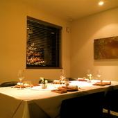 特別な日のお食事に。心地よい空間で贅沢なひとときを