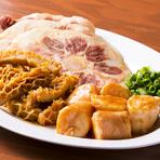 七輪で焼いた『ハチノス、テール、丸腸』をお楽しみください