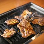 焼肉の味付けは3種類。たれは自家製、こだわりの味