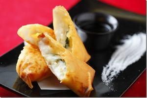 外側のカリカリした食感と、とろける白子豆腐が美味『白子豆腐奉書揚』