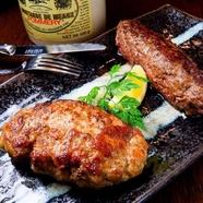 ふっくら柔らかい食感の『鉄板焼き鳥』は、こだわりの珠洲の塩で