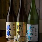 福島の『花泉』、秋田の『雪の茅舎』など銘酒を堪能できます