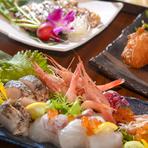 鮮魚のお造りは鮮度抜群、旨味たっぷり!ご宴会にもピッタリです