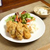 ふっくら、香りと旨み豊かな大粒牡蠣の『カキフライ サラダ付き』 冬季限定!
