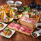 霧島黒豚鍋と宮崎料理、デザート付のコース。※お料理内容は仕入れ状況により変更させて頂く事がございます