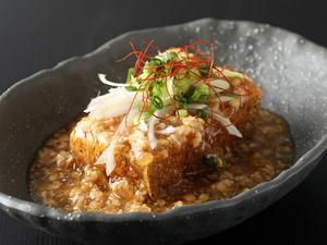 何とも言えずクセになる味わい『納豆そぼろの厚揚げ豆腐』