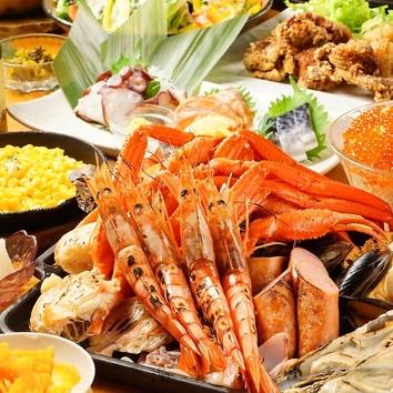 《海鮮BBQ食べ飲み放題》182品/2時間制◆4980円⇒3980円(税抜)