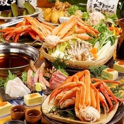 北海道代表グルメの【牡蠣】と【かに】をどちらも贅沢に食べ放題&飲み放題2時間制で楽しめるコース。