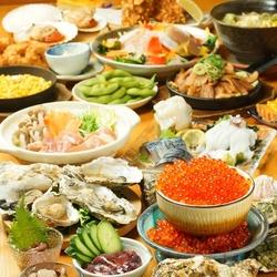 歓迎会・送別会に◎『海鮮たっぷりの豪華北海道鍋』も食べ放題!サラダ、逸品、揚げ物など全60品!