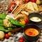 安藤ファームオリジナル! 選べるチーズフォンデュにチキンとポークを加えたしっかりお食事コースです。