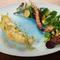 サクサク感が魅力の美しい前菜『舌平目のフリットと季節の野菜』