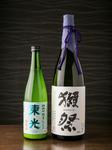 希少な日本酒も含め常時30~40種類以上の日本酒を取り揃えております。季節ごとの限定酒も!獺祭や黒龍、季節の限定酒を含む日本酒30種以上の飲み放題も◎期間限定「全品半額」でご提供中!