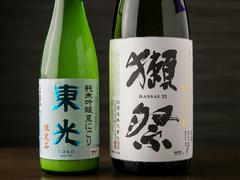 全日本酒飲み放題が2690円⇒2190円。+200円でビール、ハイボール、サワーなどの通常ドリンクも飲み放題。