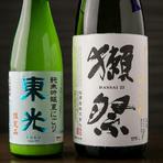 新政、磯自慢、獺祭など日本各地の日本酒が30種類以上!