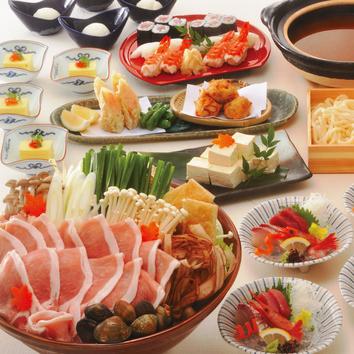【夏×飲み放題×期間限定】夏野菜と鱧すき厳選牛炙り焼コース