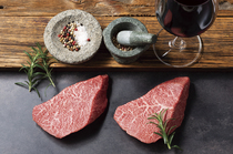 肉本来の旨みを味わえる、お店自慢の上質な牛肉