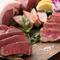 壱岐牛・佐賀牛・鹿児島黒豚などの『グリル肉の盛り合せ』