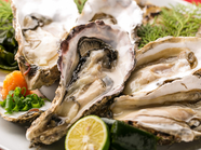 広島産の大粒の牡蠣はぷりぷりの歯応えと濃厚な味わいをお愉しみ下さい。