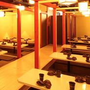 扉付完全個室!居心地の良いプライベート空間を演出します。