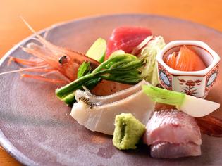 豊富な海の幸に恵まれた函館近海の魚が並ぶ『お造り』