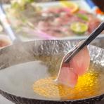日替わりでおすすめの魚しゃぶをご提供致します。 金華鯖・鰤しゃぶ・真鯛の雲丹しゃぶ・牡蠣と仙台せりの湯豆腐など
