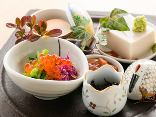 料理と日本酒のハーモニーを楽しんでほしい『前菜盛り合わせ』