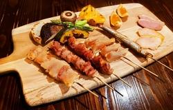 ボリューム満点、旬の味を炭火焼きで楽しめる、ご宴会に最適のコースです!