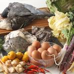 三浦産の食材を使った料理が並ぶ、隠れ家的な一軒家レストラン
