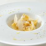 ペコリーノチーズのトルテッリ トリフ風味