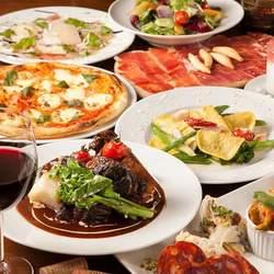 フランス産シャラン鴨や旬魚のポワレなどお肉と魚を両方堪能できる贅沢コース!90分飲み放題付き。