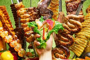 90分食べ放題のオーダービュッフェ式BBQの『レギュラーランチコース』はとてもお得なランチ限定コース